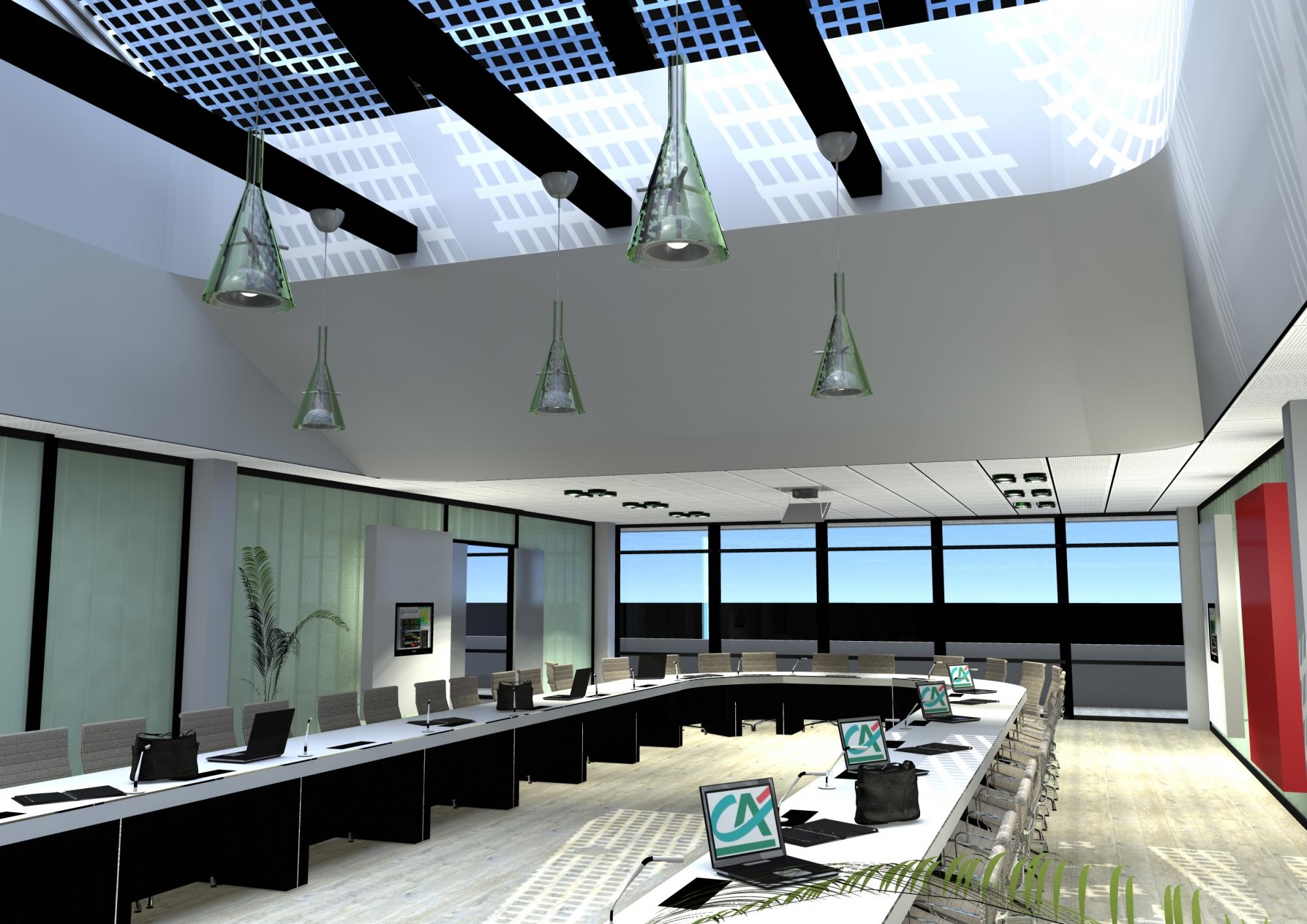 cr ation d 39 une salle de conseil au cr dit agricole rh ne alpes valence garin architectes. Black Bedroom Furniture Sets. Home Design Ideas
